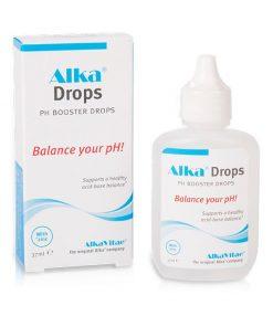 Алкална вода с Капките Alka®Drops са алкален минерален концентрат, който повишава нивото на рН на питейната вода, когато се добави към нея. По този начин се получава вода с високо ниво на рН (алкална), обогатена с цинк.