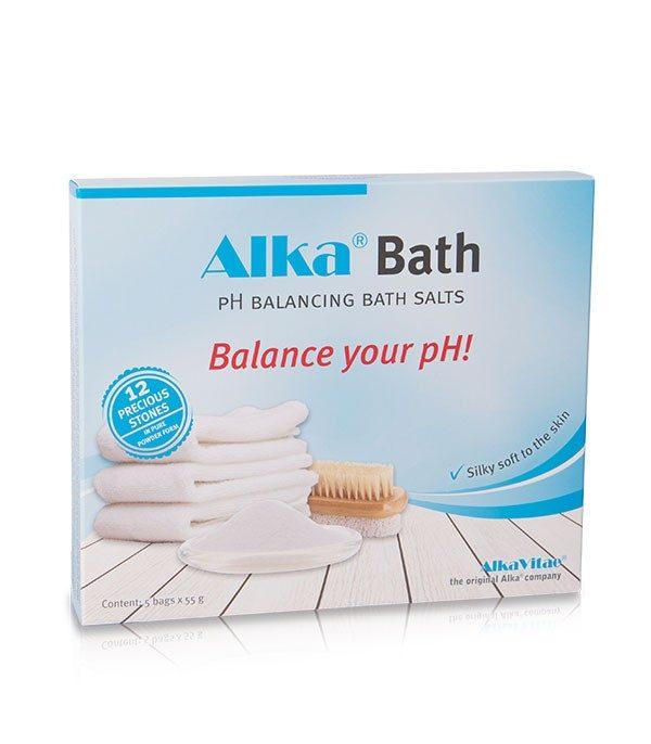 Алкализиращи Соли Alka® Bath могат да се ползват както за вана на цялото тяло, така и за душ или вани за ръце и крака. Te подпомагат отпускането на мускули, стави, сухожилия се грижат за здравето на кожата.