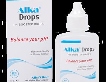 Алкална вода само с няколко капки към питейната вода Alka Drops