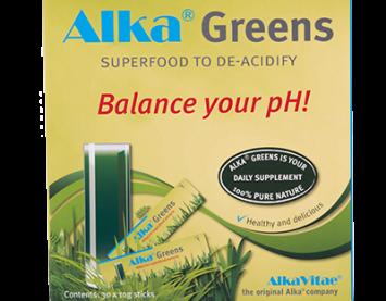 Alka® Greens е суперхрана, която предпазва тялото от натрупване на киселини