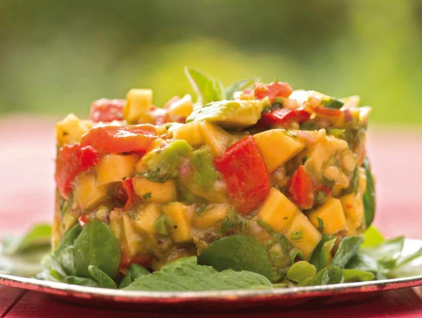 Цветна салца от манго и авокадо | Alka®